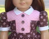 American Girl Doll Clothes - 1940's Style Dress For Molly, Emily Or Similar 18-Inch Dolls