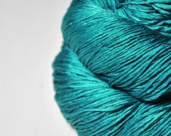 Ground turquoise  - Silk Fingering Yarn