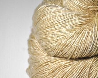Golden ghost OOAK - Tussah Silk Fingering Yarn