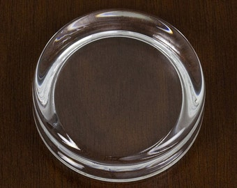 Round - Glass Paperweight Frame  |  Handcrafted in America  |  Personalize with Images, Artwork, Crafts