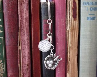 Bride Bookmark Dictionary Glass Gem Bird's Nest Charm Personalized for Wedding, Bride, Wedding Shower, Wife Kristin Victoria Designs
