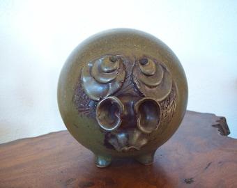 Wonderful Big Snout Folk Art Piggy Bank ~ Charles Fach ~ 1970s ~ Ugly Face