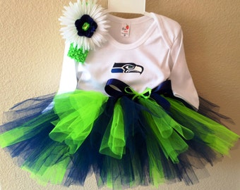Seahawks Tutu Outfit, Seahawks Infant, Seahawks Girls