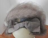 Vintage Fur Trimmed Headband Hat - Tan Fur Headband - Vintage Fur Hat