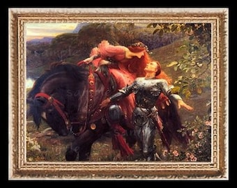 The Damsel And The Knight Miniature Dollhouse Art Picture 6799
