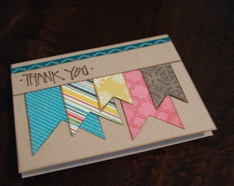 Pennant Thank You Cards - Single Cards