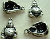 Destash (4) Big Buddha Charms Pendants - for pendants, jewelry making, crafts, scrapbooking