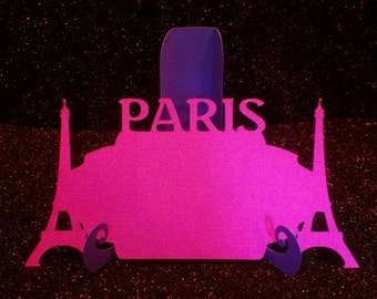 Paris with Eiffel tower place card set, set of six