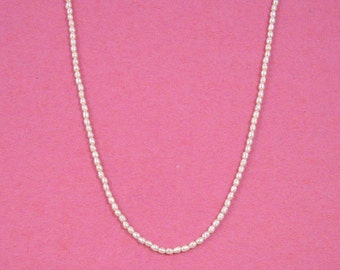 Petite White Freshwater Pearl Necklace