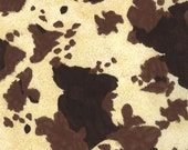 Brown and Cream Cow Print from the Horseshoe Trail Collection, by Moda, 1 yard