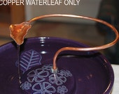 For ThirstyCat Fountains 9 inches or Wider - Handmade, Copper Waterleaf add-on
