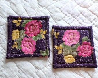 Flower Coasters (Set of 2)