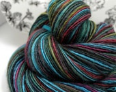 Handspun Yarn Gently Thick and Thin Single Blue Faced Leicester and Tussah Silk Blue Moon Fiber Arts 'Maia'