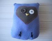 Lavender and Olive Green Love Owl