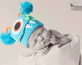 Mommy's little monster crocheted hat -free shipping in USA