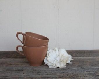Vintage Melamine Teacups, Set of 2