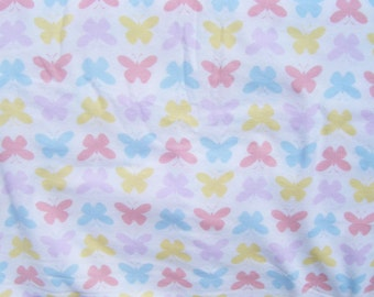 Flannel pants pajama dorm lounge made to order your choice size XS - 2X  pastel butterfly print