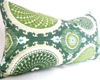Green Pillow, Green White throw pillow cover, Emerald Green Pillows, Modern Pillows