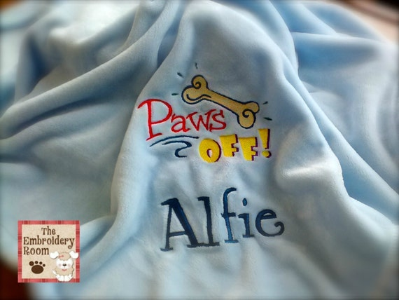 Embroidered Dog Blanket - Paws Off My Blanket
