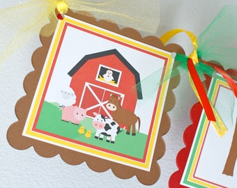 Barnyard Birthday Banner, Farm Animals Banner, Barnyard Birthday Decorations, Boy Birthday Banner