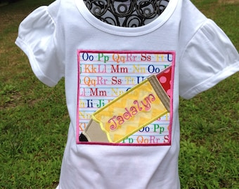 Personalized Monogrammed First Day of School Shirt .... Name Added for free