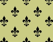 STENCIL Fleur de lis Wall Paper Background