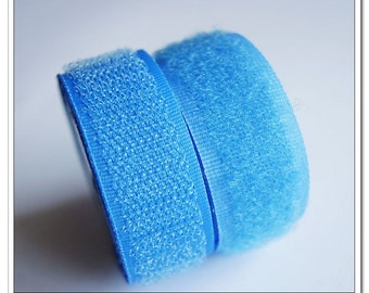 2 yards 20mm blue Sew on Velcro Hook & Loop Tapes