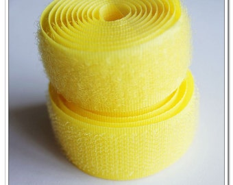 2 yards 20mm yellow Sew on Velcro Hook & Loop Tape