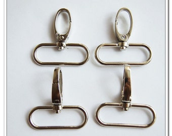 8pcs 1.5 inch (inside)  snap hook silver
