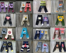 CUSTOM / Made To Order Upcycled Wool Longies Diaper Cover With Added Doubler Select Your Size Color Applique