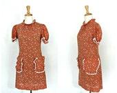 1970s Mini Dress - 70s dr...