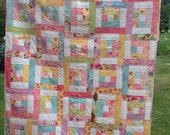 PDF Quilt Pattern for Jelly Rolls - Baby Crib Lap Twin Queen King Sizes- Backyard Bella