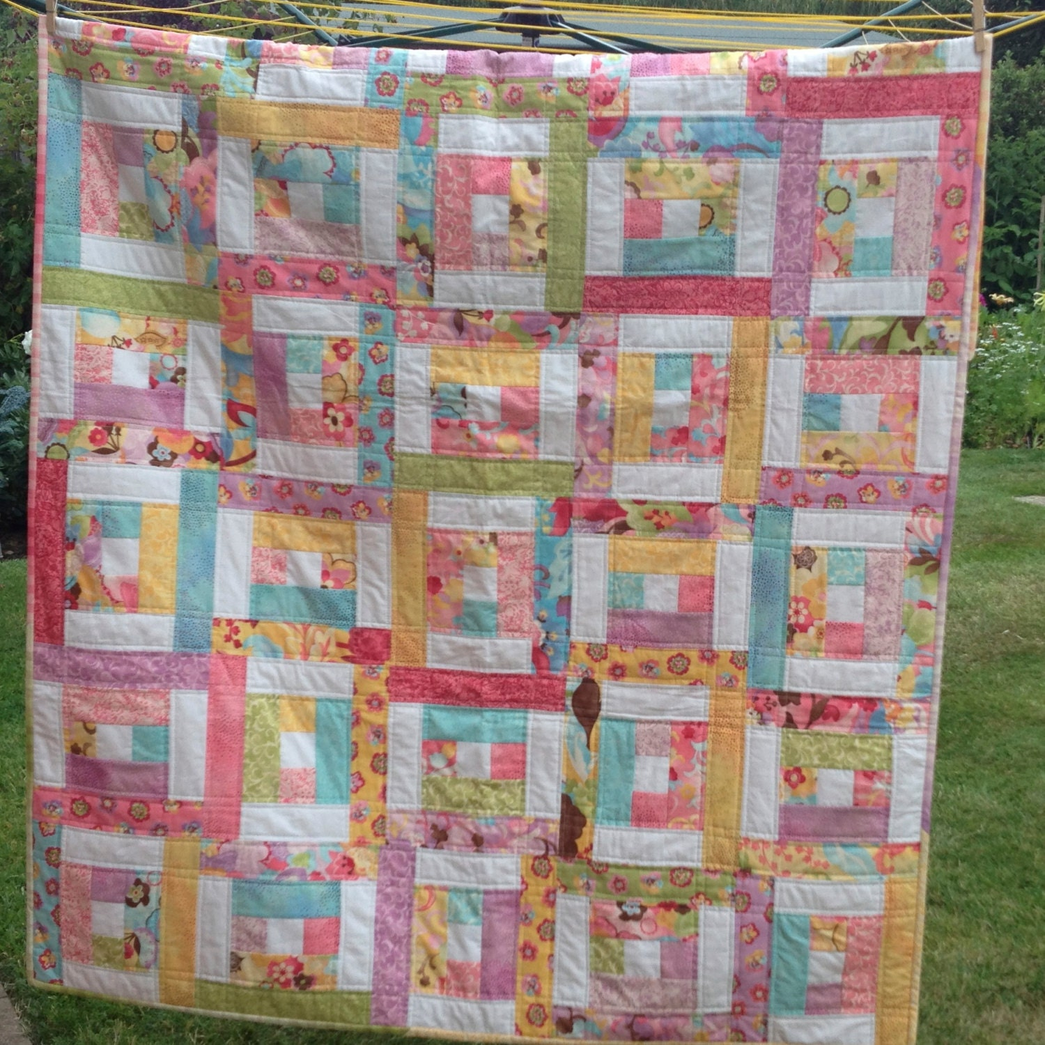 Pdf Quilt Pattern For Jelly Rolls Baby Crib Lap Twin Queen