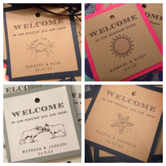 Labels For Wedding Gift Bags : ... Gift Tags with Ribbonwelcome bagswedding gift bags on Etsy