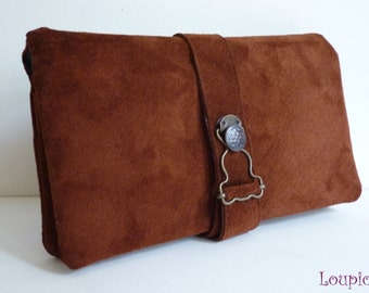 Companion brown leather: checkbook / wallet holder / card holder