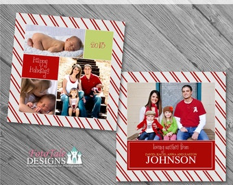 Believe Christmas Card No. 4 - 5x5 photo card templates for photographers on WHCC and Millers Lab Specs