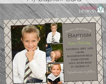 INSTANT DOWNLOAD - My Baptism Card- custom 5x7 photo card announcement