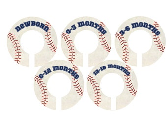 Vintage Style Baseball Closet dividers