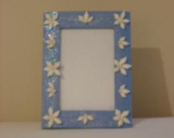 Sea Shell Picture Frame - Blue