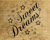 INSTANT DOWNLOAD - Sweet Dreams with Stars - Download and Print - Image Transfer - Digital Sheet by Room29 - Sheet no. 1097