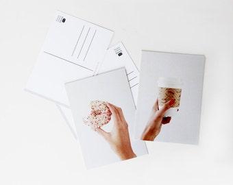 Coffee & Donut Postcard Set