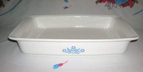 Vintage Corning Ware Blue Cornflower Baking Dish Pan 2