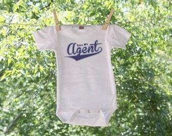 Call My Agent Sporty Script Infant Bodysuit