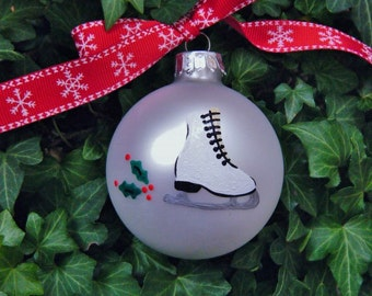 Ice skate ornament | Etsy