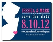 State Save the Date Destination Wedding - Magnets Available -DIY Printable or Printed State of the Union #00023-STDA2