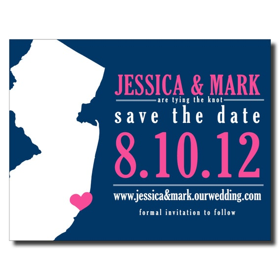 State Save The Date Destination Wedding Magnets Available