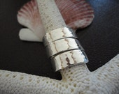 999 Fine Silver Wrap, Coil, Spiral, Hammered Ring - Shiny, Bright, Bold and Beautiful- Customized Stamping available 45.00 - 55.00