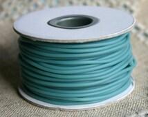 Sea Foam Blue Rubber Synthetic Cord 2mm 25 Meters 82 Feet