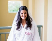 Wedding Gift Bride Robe, Bridesmaids Gifts Personalized Wedding Party bridesmaid Robes Bride Robe Front embroidery