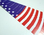 The American Flag (Vertical) - Flag of the United States -  Origami Lucky Star Folding Paper - pack of 40 strips